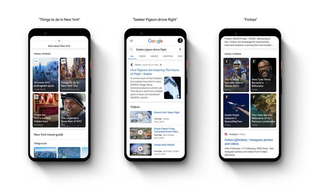 Google SERP Web Stories Feature